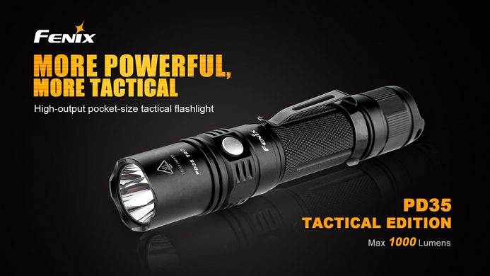 fenix pd35 tac tactical edition led taschenlampe mit. Black Bedroom Furniture Sets. Home Design Ideas