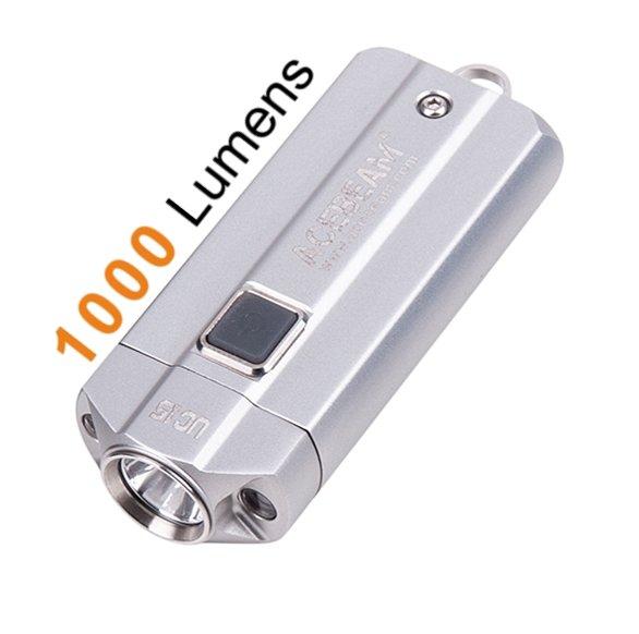 Acebeam UC15, silber - Schlüsselanhänger LED Taschenlampe, 1000 ...
