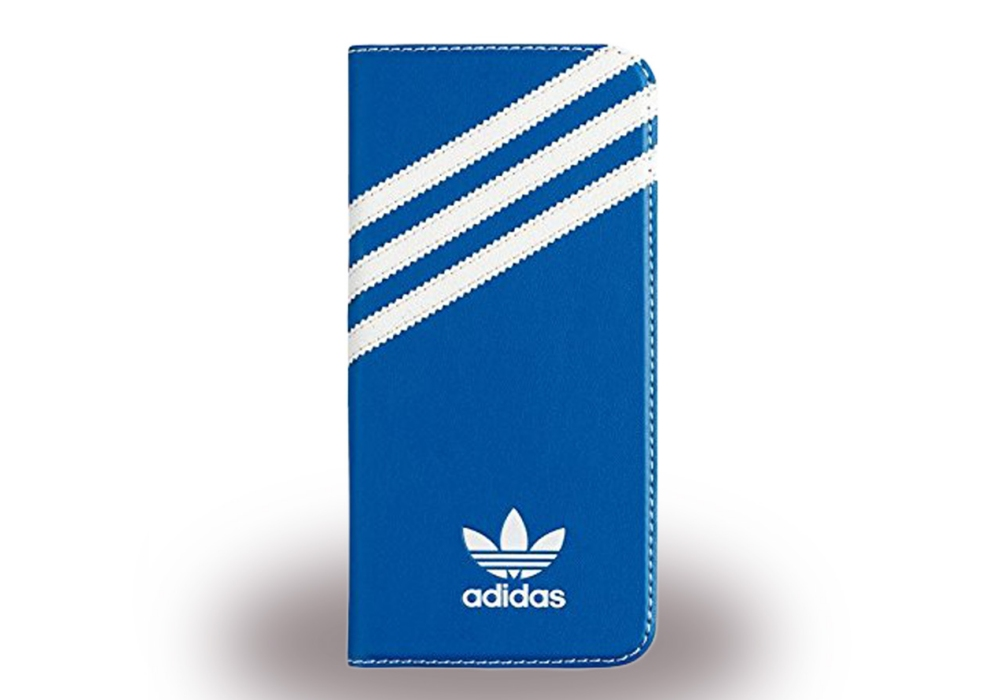 adidas basics book cover handytasche blau wei f r samsung galaxy s7 edge pda max. Black Bedroom Furniture Sets. Home Design Ideas