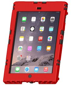 Andres Industries aiShell Air, rot - wasserdichtes und schlagfestes Case für Apple iPad Air 1, iPad Air 2, iPad Pro 9.7