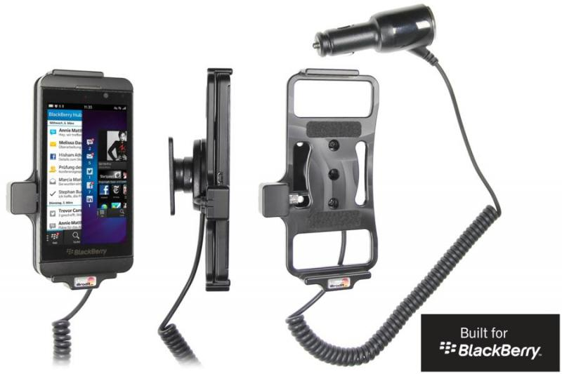 brodit kfz halter mit ladekabel 512447 f r blackberry z10 pda max. Black Bedroom Furniture Sets. Home Design Ideas