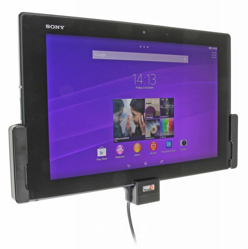 brodit kfz halter mit ladekabel 512655 f r sony xperia z2 tablet pda max. Black Bedroom Furniture Sets. Home Design Ideas