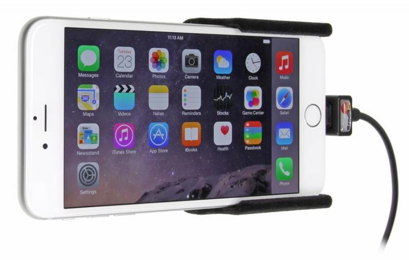 brodit kfz halter mit ladekabel 521661 f r apple iphone 6. Black Bedroom Furniture Sets. Home Design Ideas