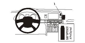 Konsole BRODIT ProClip 853508 KFZ Halter für Audi A6 S6 2004-2009 Halterung