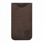 bugatti Ledertasche Skinny M, umber für Samsung Galaxy S3 Mini Value Edition I8200