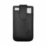 Bild von: bugatti SlimCase Leather Premium XL, black (08079) f�r HTC One XL