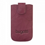 Bild von: bugatti SlimCase Leather Unique XL, burgundy (08095) f�r HTC Titan