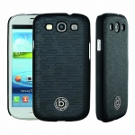 Bild von: bugatti ClipOn Cover, black brick (08138) f�r Samsung Galaxy S3 I9300