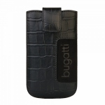 Bild von: bugatti SlimCase Leather Croco XL, black (08105) f�r Samsung Galaxy S3 I9300