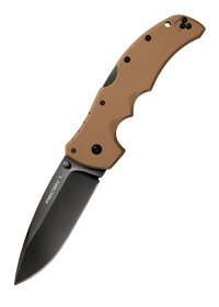 Cold Steel Recon 1 Spear Point Sonderedition Coyote Brown, Taschenmesser mit glatter Schneide, CTS XHP Stahl
