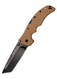 Cold Steel Recon 1 Tanto Point Sonderedition Coyote Brown, Taschenmesser mit glatter Schneide, CTS XHP Stahl