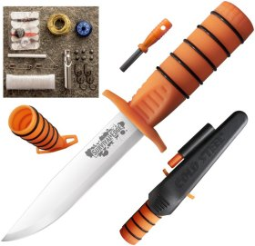 Cold Steel Survival Edge,orange, Survival- und Outdoormesser, 4116 Edelstahl
