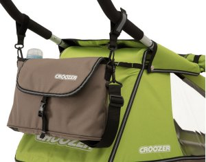 Croozer Schiebebügeltasche Meadow Green / Sand Grey für Croozer Kid