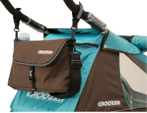 Croozer Schiebebügeltasche Sky Blue / Brown für Croozer Plus Kid for 1 (Modell 2019)