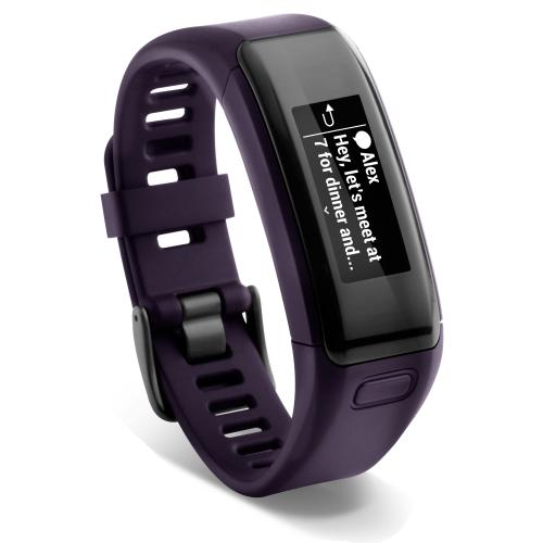 garmin vivosmart hr lila das smarte fitnessband mit. Black Bedroom Furniture Sets. Home Design Ideas