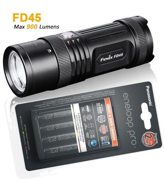 fenix fd45 fokussierbare led taschenlampe 900 lumen. Black Bedroom Furniture Sets. Home Design Ideas