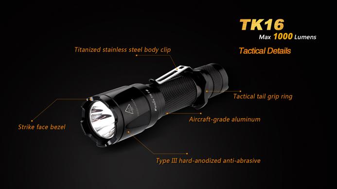 fenix tk16 led taschenlampe mit 1000 lumen pda max. Black Bedroom Furniture Sets. Home Design Ideas
