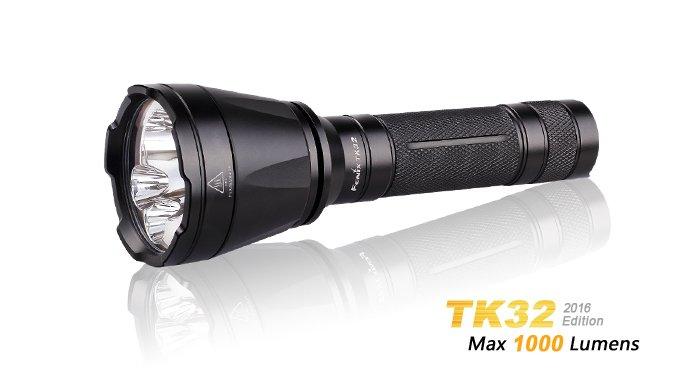 Fenix TK32 2016, Farb-LED-Taschenlampe, 1000 Lumen | PDA Max