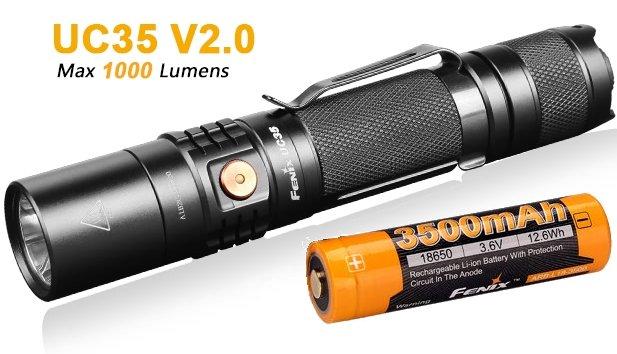 Fenix Tactical LED Flashlight PD35 V2.0 1000LM CREE XP-L HI V3 18650//CR123 Torch