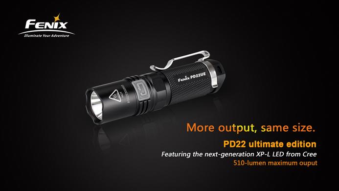 fenix pd22 ultimate edition led taschenlampe mit 510 lumen inkl cr123a batterie pda max. Black Bedroom Furniture Sets. Home Design Ideas