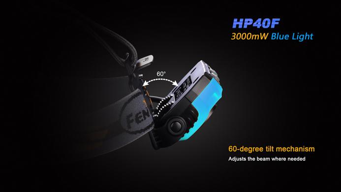 fenix hp40f led angler stirnlampe mit 450 lumen inkl zwei 18650 akku mit 3400 mah pda max. Black Bedroom Furniture Sets. Home Design Ideas