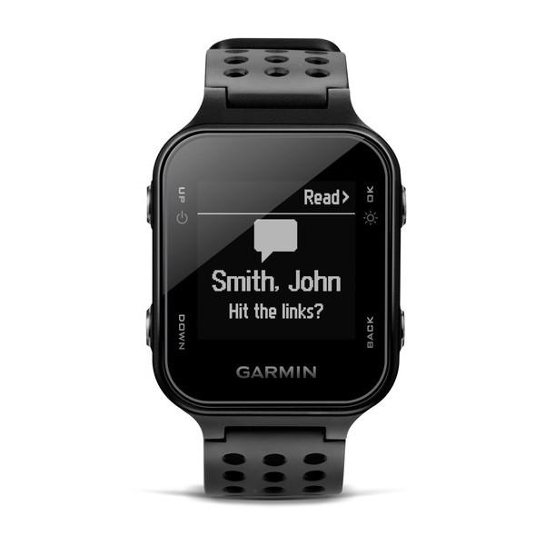 Garmin Approach S20, schwarz - GPS Golfuhr im sportliches Design, Fitness-Tracker Funktionen und Smart Notifications