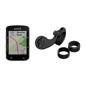 Garmin Edge 520 Plus Mountainbike-Bundle - GPS Radcomputer inkl.  Mountainbike Halterung, Fernbedienung, schwarze Silikonhülle und Europa Fahrradkarte
