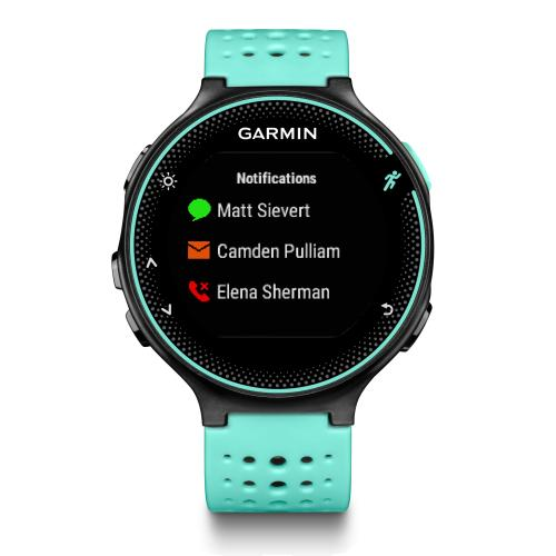garmin forerunner 235 frostblau schwarz gps laufuhr mit. Black Bedroom Furniture Sets. Home Design Ideas