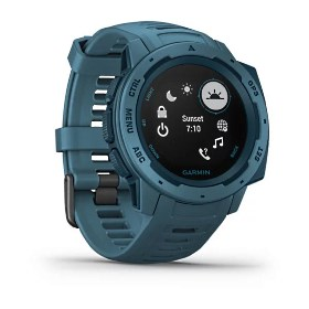 Garmin Instinct, blau - robuste Outdoor Smartwatch