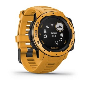 Garmin Instinct, gelb - robuste Outdoor Smartwatch