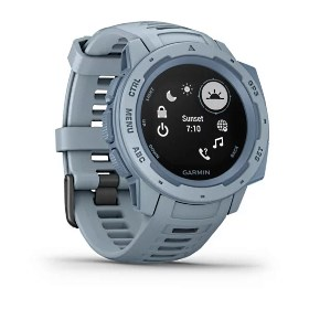 Garmin Instinct, hellblau - robuste Outdoor Smartwatch