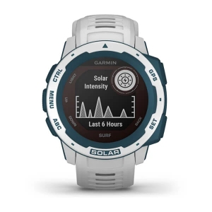 Garmin Instinct Solar Surf, cloudbreak - GPS Outdoor Smartwatch mit extra Power dank Solarenergie