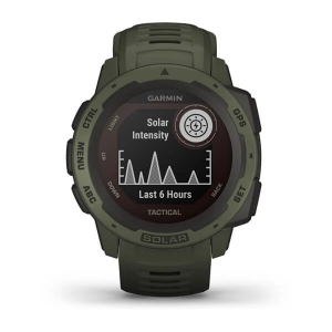 Garmin Instinct Solar Tactical, grün - GPS Outdoor Smartwatch mit extra Power dank Solarenergie