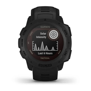 Garmin Instinct Solar Tactical, schwarz - GPS Outdoor Smartwatch mit extra Power dank Solarenergie