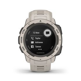Garmin Instinct, weiß - robuste Outdoor Smartwatch