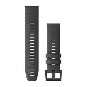 Garmin Silikon Armband, QuickFit 22mm, schiefer (010-12863-22) für kompatible Garmin Uhren