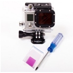 KINGTIDE Magenta Filter für GoPro Hero3 Dive Housing inkl. Torx