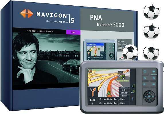 Navigon: PNA Transonic 5000 Fußball Fan Navigator 433 ...