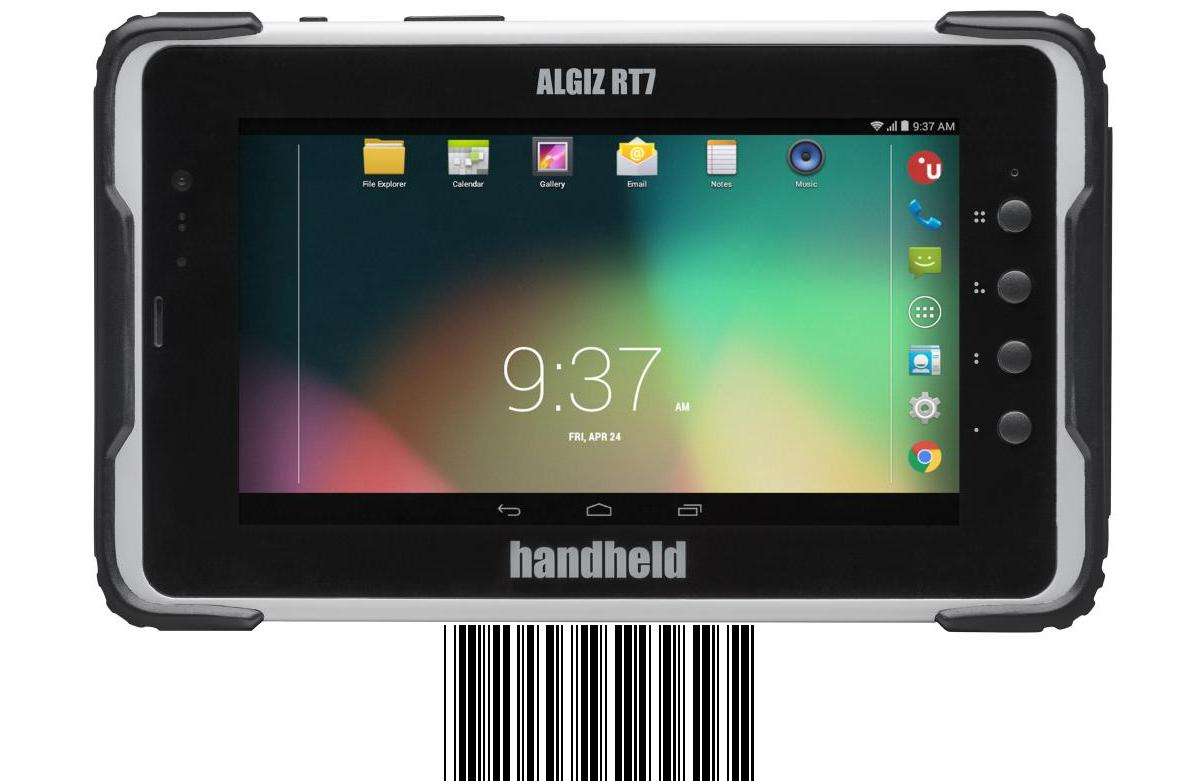 Handheld Algiz RT7 - rugged Android Tablet mit 7 Zoll Display, WLAN, BT, LTE, NFC, GPS und 2D Barcode Imager