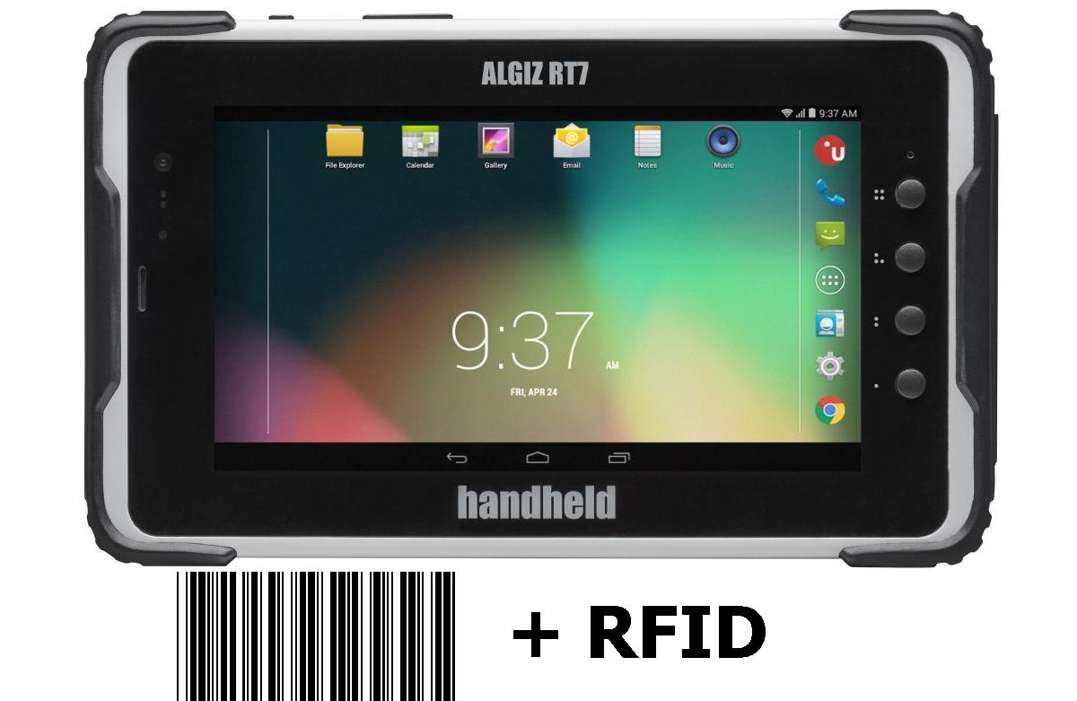 Handheld Algiz RT7 - rugged Android Tablet mit 7 Zoll Display, WLAN, BT, LTE, NFC, GPS, 2D Barcode Imager und RFID Reader