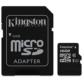 Kingston microSDHC Speicherkarte 16 GB (Klasse 10)