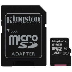 Kingston microSDHC Speicherkarte 64 GB (Klasse 10)