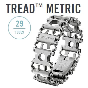 Produktbild von Leatherman Tread metric silber - 29in1 Multi-Tool-Armband