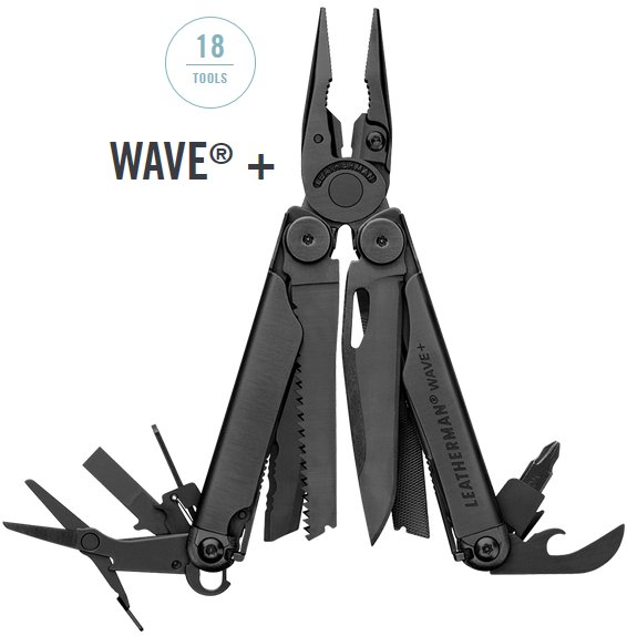 Produktbild von Leatherman Wave Plus schwarz - 18in1 Multi-Tool mit Nylon Holster