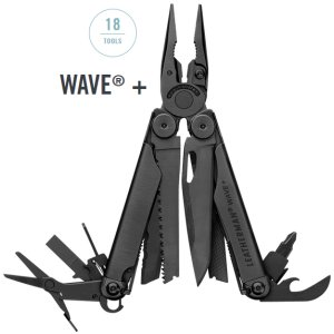 Leatherman Wave Plus schwarz - 18in1 Multi-Tool mit Nylon Holster