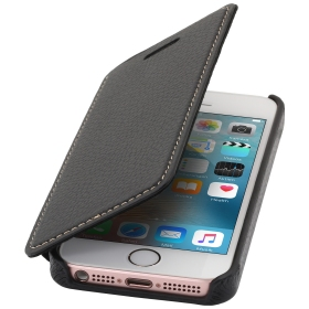 Book Case aus Leder, schwarz Apple iPhone 5 / 5S