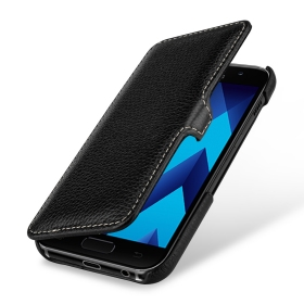 Ledertasche Book Type, schwarz Samsung Galaxy A3 (2017)
