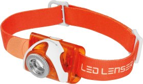 Ledlenser SEO 3 orange - LED Stirnlampe mit 100 Lumen