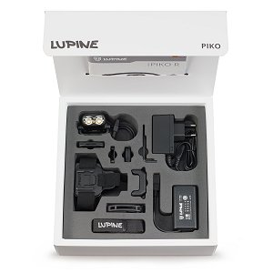 Lupine Piko All-in-One 1900 Lumen, schwarz, LED Stirnlampe, Helmlampe, Bluetooth Fernbedienung, 3.5 Ah SmartCore Akku