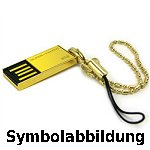Bild von: Super Talent 4GB 200X Pico C GOLD USB Flash Drive -24K GOLD-